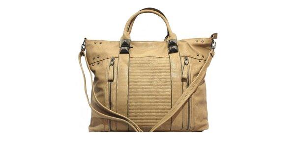 Dámska kabelka s ozdobnými zipsami a cvokmi Bessie