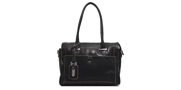 Dámska čierna obdĺžniková kabelka Bessie