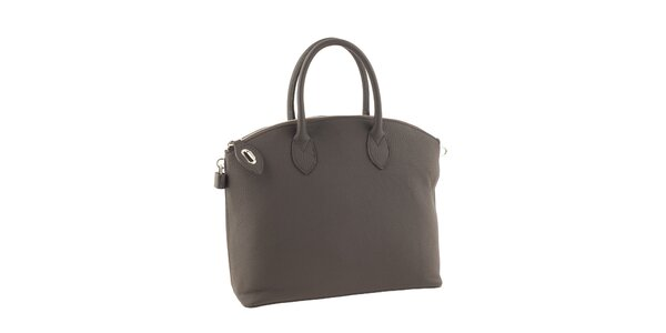 Dámska šedá elegantná kabelka Valentina Italy