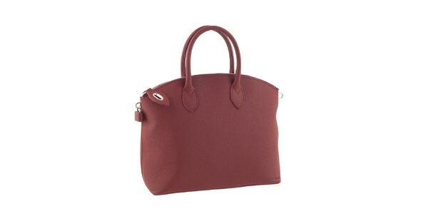 Dámska červená elegantná kabelka Valentina Italy