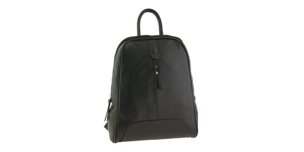 Dámsky čierny kožený ruksak Valentina Italy