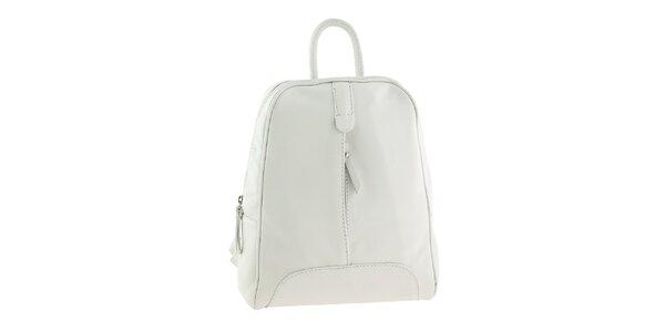 Dámsky biely kožený ruksak Valentina Italy