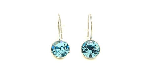 Dámske náušnice Swarovski Elements s modrým kryštálom