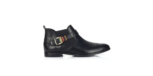 Dámske kožené čierne chelsea topánky Joana and Paola