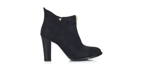 Dámske nubukové topánky s dvomi zipsami Joana and Paola