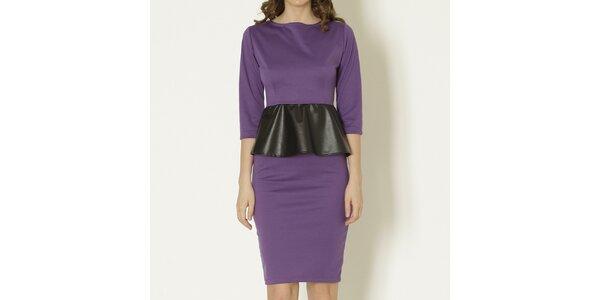 Dámske fialové peplum šaty Keren Taylor