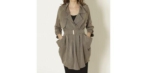 Dámsky béžový kabát s opaskom Keren Taylor