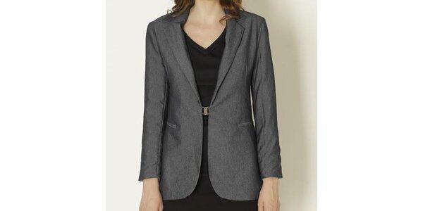 Dámske tmavo šedé sako so sponou Keren Taylor