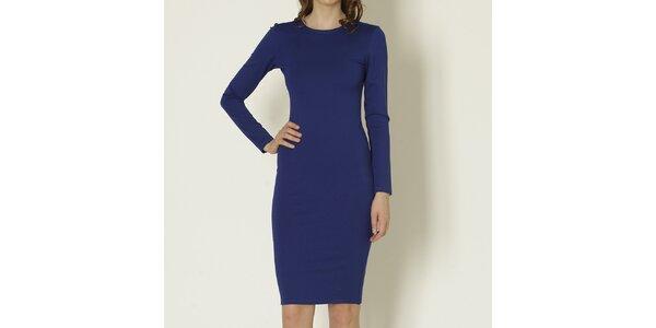 Dámske modré šaty s dlhým rukávom Keren Taylor
