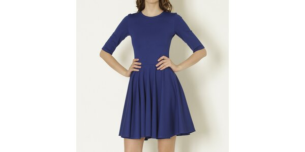 Dámske modré šaty s rukávmi Keren Taylor