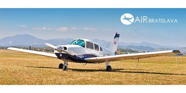 Vzrušujúci zážitkový let pre 3 osoby