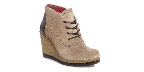 Dámske béžové topánky na platforme Tommy Hilfiger