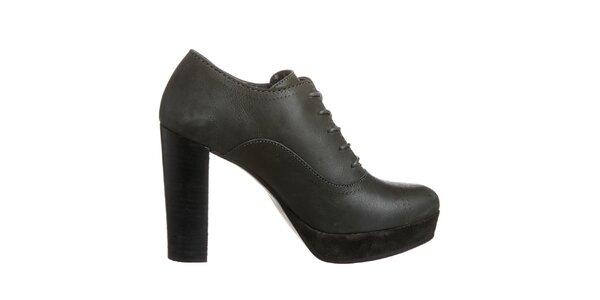 Dámske čierne topánky s platformou Tommy Hilfiger