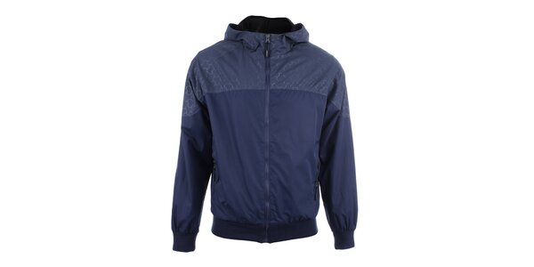 Pánska tmavo modrá bunda s kapucňou Joluvi