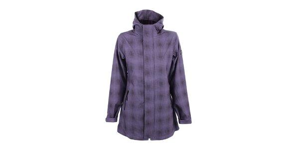 Dámsky fialový kabát s kapucňou Joluvi