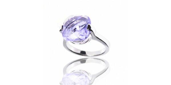 Dámsky prsteň Bague a Dames s veľkým fialovým kameňom