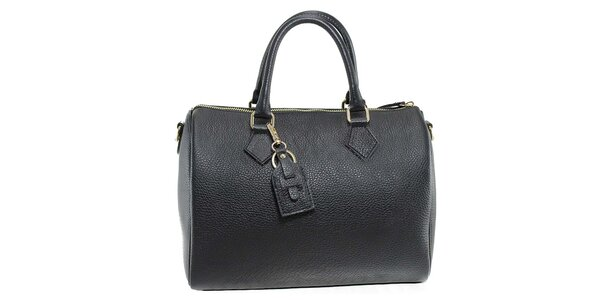 Dámska čierna kožená kabelka Florence Bags