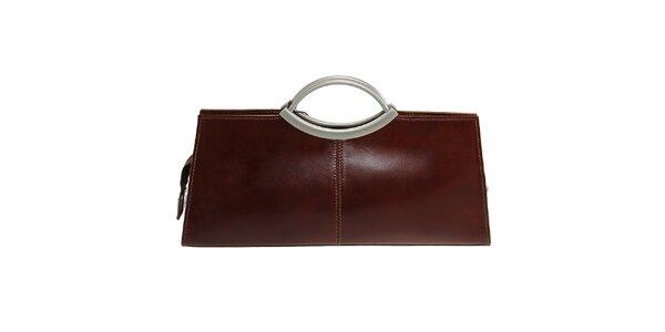 Dámska hnedá obdĺžniková kabelka Florence Bags