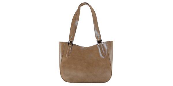Dámska hnedá kožená kabelka s dlhými pútkami Florence Bags
