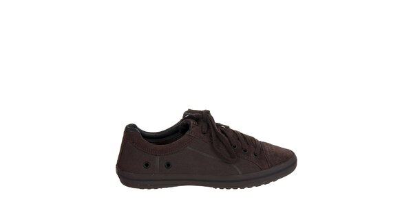 Pánske tmavo hnedé kožené tenisky Crocs