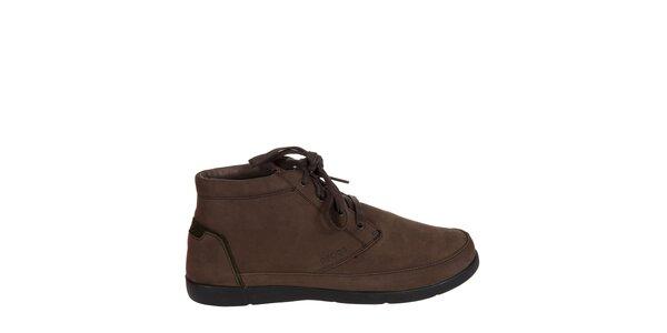 Pánske hnedé kožené topánky Crocs