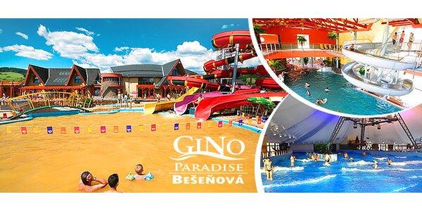 Celodenný vstup do GINO PARADISE Bešeňová