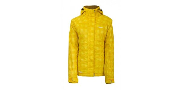 Dámska lyžiarska žltá károvaná bunda Envy