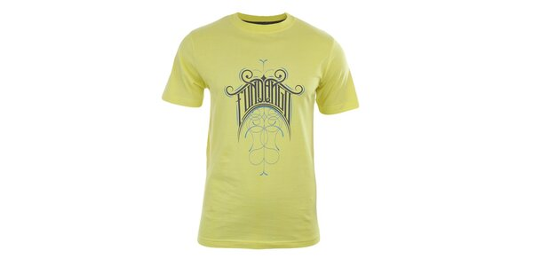 Pánske žlté tričko s potlačou Fundango