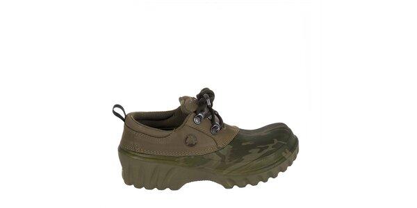 Chlapčenské maskáčové polobotky Crocs