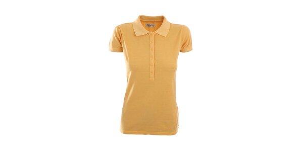 Dámske žlté bavlnené polo tričko Timeout