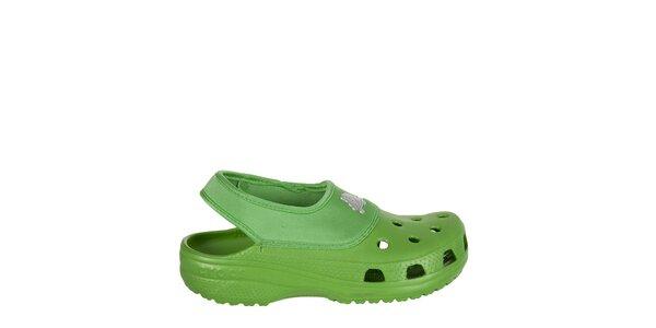 Chlapčenské zelené papuče Crocs