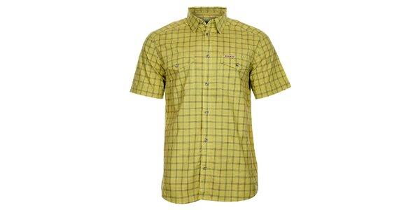 Pánska žlto-šedá kockovaná košeľa Bushman