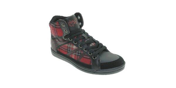 Dámske čierne členkové topánky so vzorom Beppi