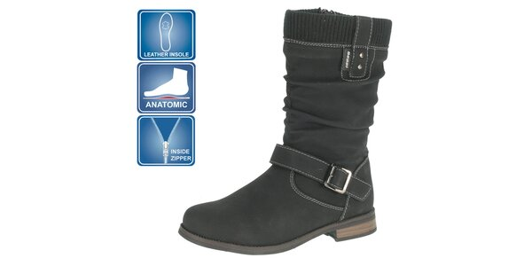 Dievčenské čierne topánky so sponou Beppi