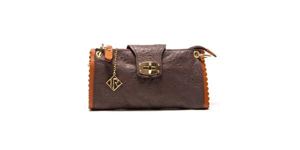 Dámska malá hnedá kabelka so vzorom Isabella Rhea