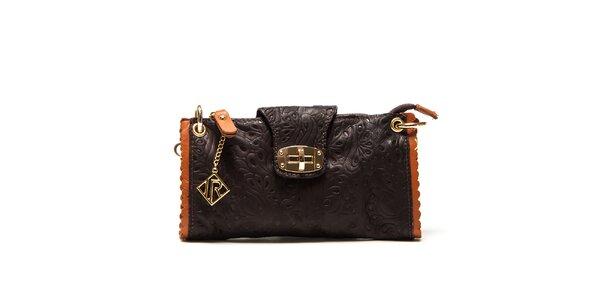 Dámska malá tmavo hnedá kabelka so vzorom Isabella Rhea