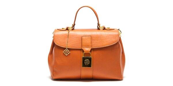 Dámska kožená kabelka so zlatým zámčekom Isabella Rhea