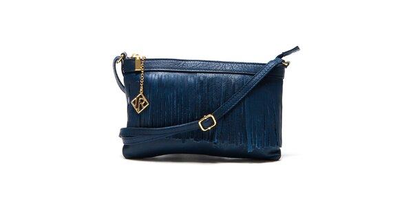Dámska tmavo modrá kabelka so strapcami Isabella Rhea