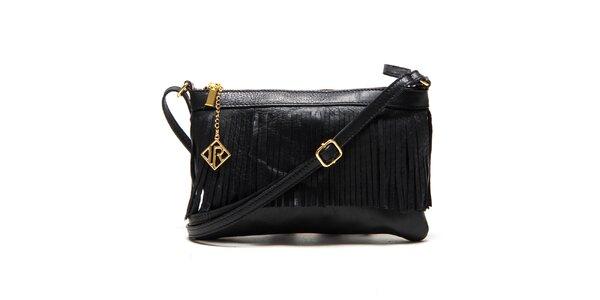 Dámska čierna kabelka so strapcami Isabella Rhea