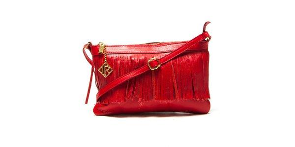 Dámska červená kabelka so strapcami Isabella Rhea