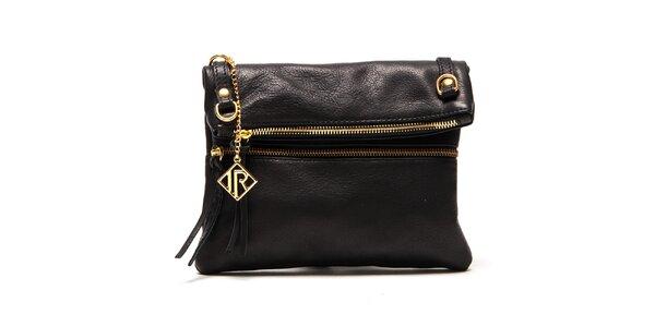Dámska čierna kabelka so zlatými zipsami Isabella Rhea