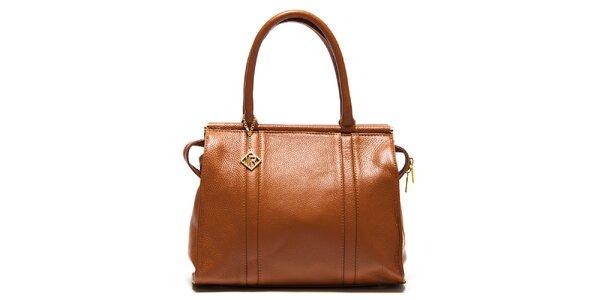 Dámska koňakovo hnedá kufríková kabelka Isabella Rhea