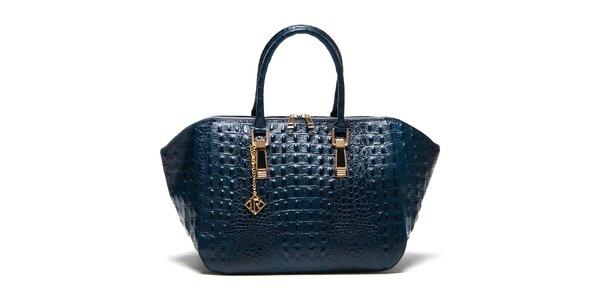 Dámska modrá kabelka s plastickým vzorom Isabella Rhea
