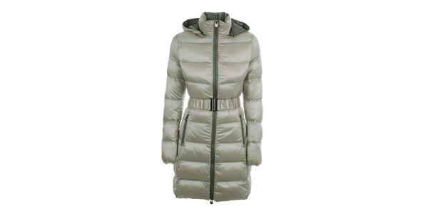 Dámsky prešívaný béžový kabát B.style