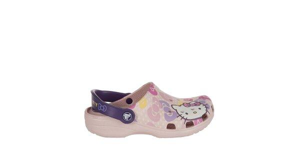 Dievčenské ružové Hello Kitty papuče Crocs