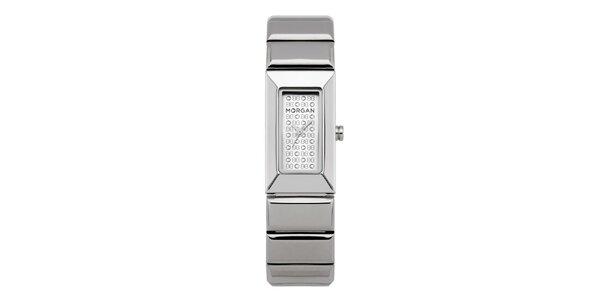 Dámske strieborné hodinky s kryštálmi Morgan de Toi