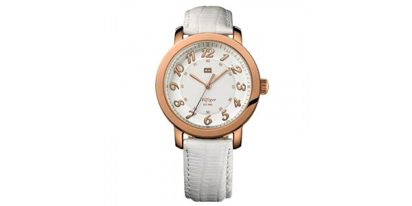 Dámske svetlé pozlátené hodinky Tommy Hilfiger