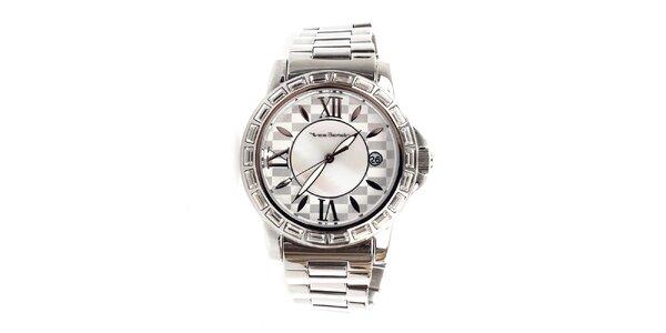 Dámske hodinky striebornej farby Yves Bertelin