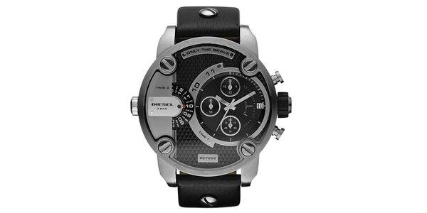 Pánske oceľové hodinky Diesel s koženým remienkom