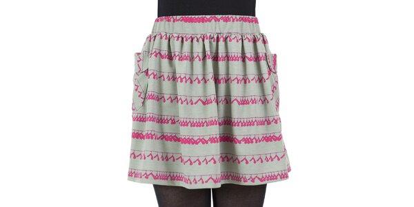 Dámska sukňa s ružovou potlačou ramienok Ginger and Soul